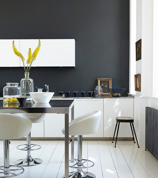 Lamp Black 228, Loft White 222