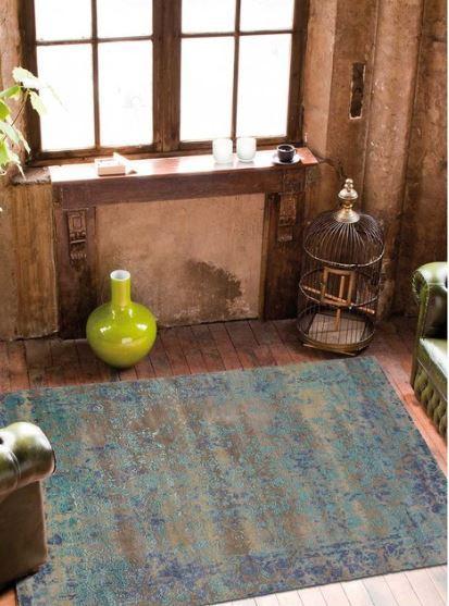 ANGELO - tapis heritage soie de bambou et laine noué main